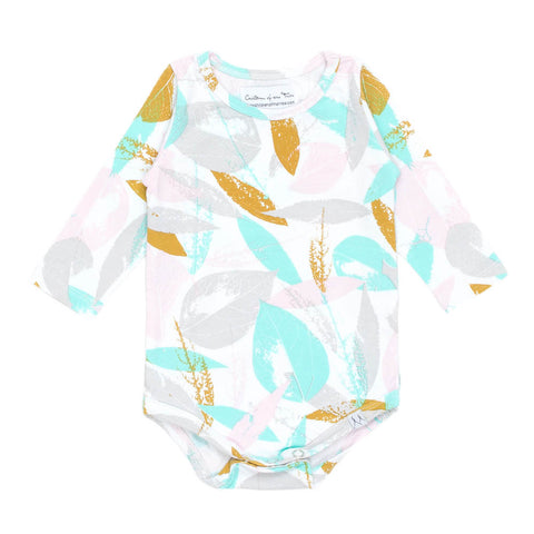 Children of the Tribe Golden Leaves Long Sleeve Onesie