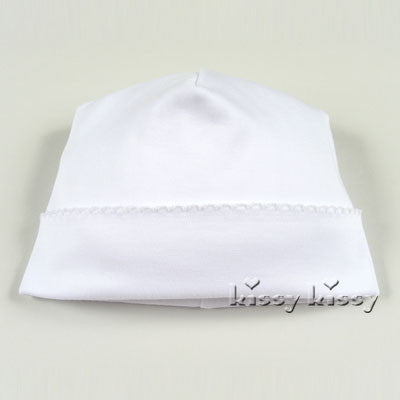 Kissy Kissy Pima Cotton Hat White