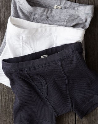 Goat Milk NYC Ribbed Heather Grey Boy's Boxer