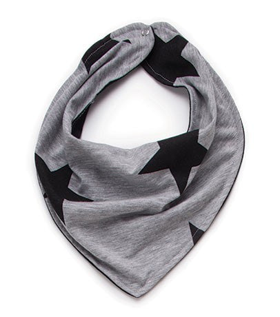 NUNUNU Heather Grey Star Bandana Bib