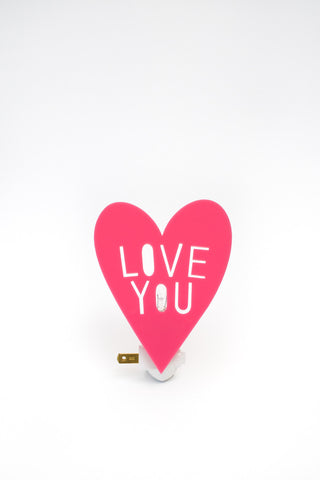 Housey Home- I Love You Nightlight (pink)