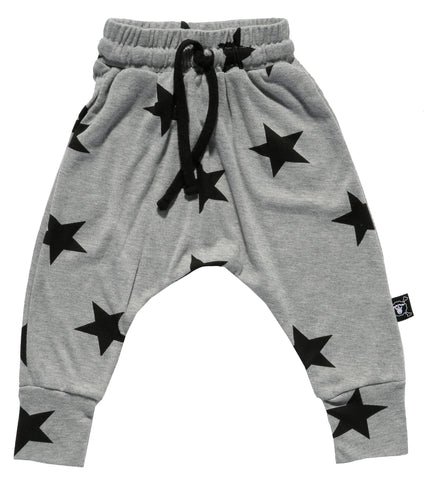 NUNUNU Grey Star Baggy Pants