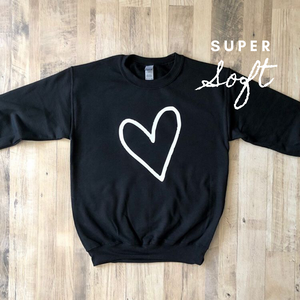Heart Crewneck Sweatshirt