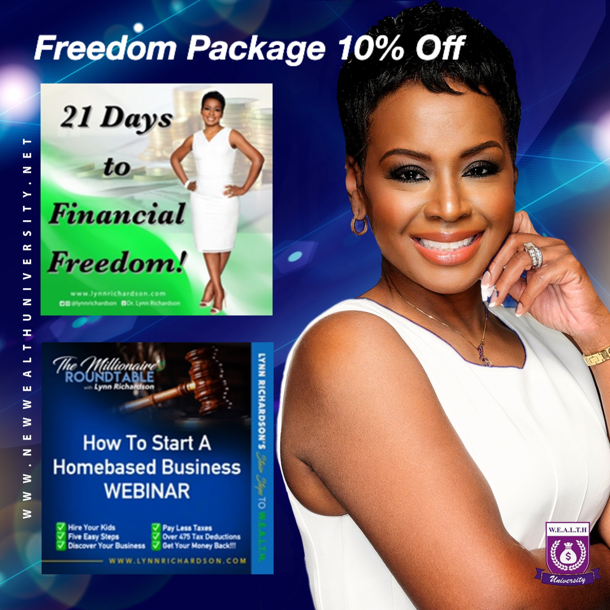 Freedom Package! 21 Days to Financial Freedom and How to Start a Homebased Business Webinar