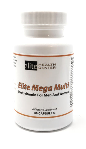 Elite Mega Multi, Multivitamin Supplement for Men & Women - 60 Capsules