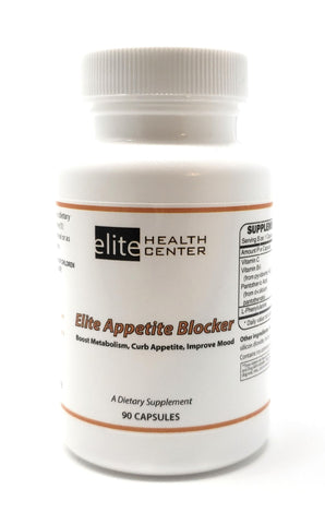 Elite Appetite Blocker - Boosts Metabolism, Curbs Appetite and Mood Enhancer - Stimulant Free Weight Loss - 90 Capsules