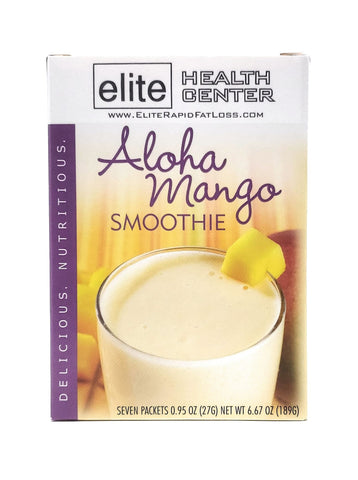 Aloha Mango Smoothie, low sugar, 15g Protein Per Serving (Pack of 7)
