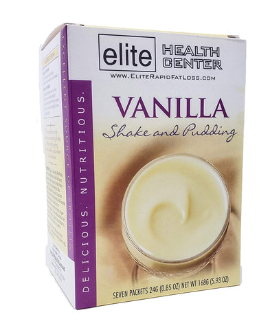 Protein Shake & Pudding Mix, Vanilla - Low Carb, Low Sugar, Gluten Free - (Pack of 7) Box
