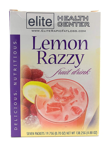 Elite Health Center, Lemon Razzy Protein Drink Mix, Low Sugar, Low Carb, 15g Protein Per Serving, 0.70 Ounce (Pack of 7)