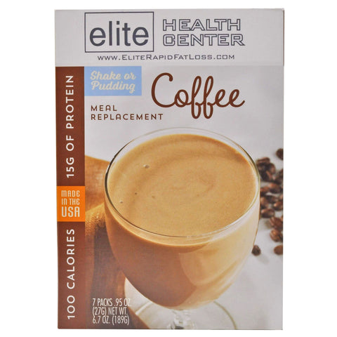 Coffee Protein Shake & pudding Mix, Low Carb, Low Sugar, Gluten Free, 15g Protein, .95 Ounce (Pack of 7)