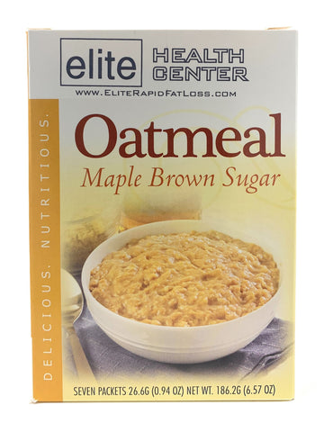 Elite Health Center, Maple Brown Sugar Oatmeal, High Protein, Low Carb, Low Sugar, 0.94 Ounce (Pack of 7)