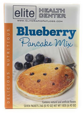 Elite Health Center, Blueberry Pancake Mix, High Protein, Low Sugar, Low Carb, 15g Protein Per Serving, 0.92 Ounce (Pack of 7)