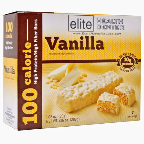 Elite Health Center Vanilla Protein Bar, Low Carb, Low Sugar, Gluten Free, 1.02 oz, (Pack of 7)
