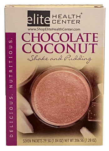 Chocolate and Coconut Protein shake and pudding mix, Gluten Free, 15g protein, 1.06 ounce (Pack of 7)