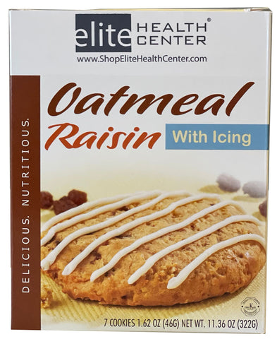 Oatmeal Raisin with Icing Protein Cookie- phase 3 and lifestyle (7 per box)