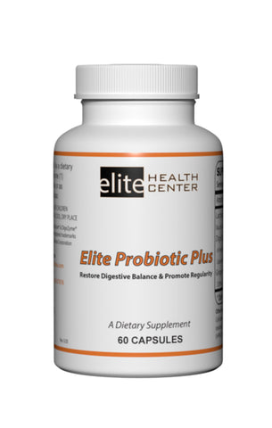 Elite Probiotic Plus - 60 Capsules - Restore Digestive Balance & Promote Regularity