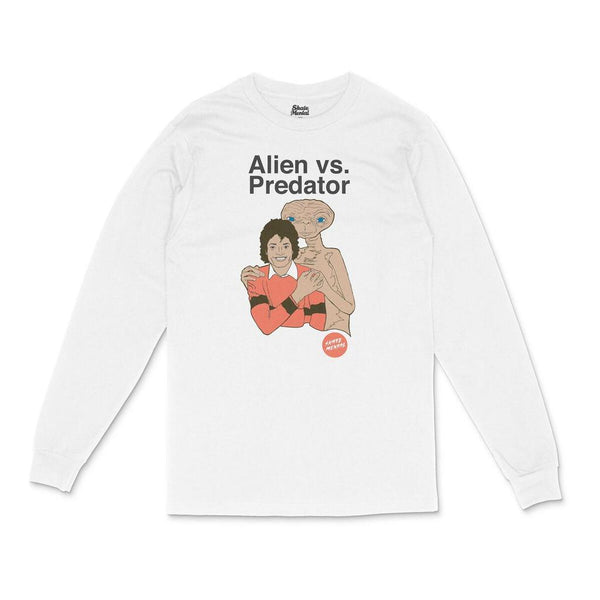 Skate Mental Alien VS Predator Long Sleeve T-Shirt - White