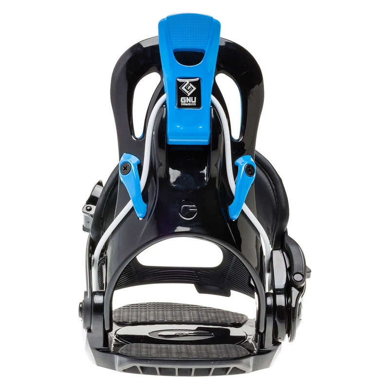 GNU Gnunior Youth Snowboard Binding Black/Blue 2020