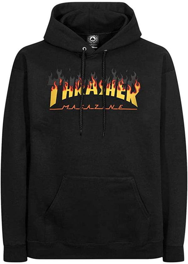 Thrasher Mag Yellow Fade Hoodie - Black