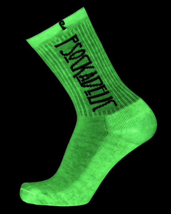 Psockadelic Zepplin Psocks Glow-in-the-dark