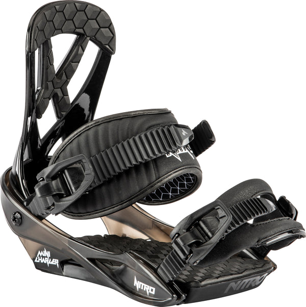 Nitro 2021 Youth Charger Mini Bindings - Black
