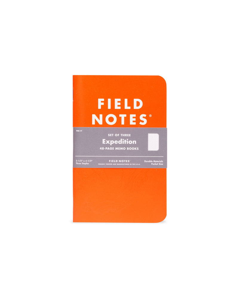 Field Notes Expedition Edition Waterproof 3 Pack Notebooks