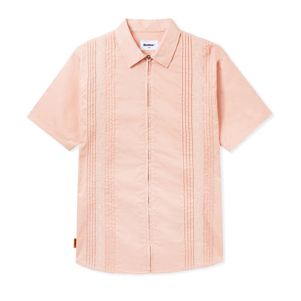 Butter Floral Zip Shirt - Peach