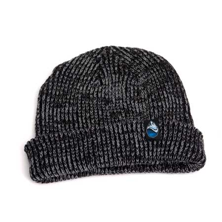 Grass Roots Knit Fold Beanie - Grey