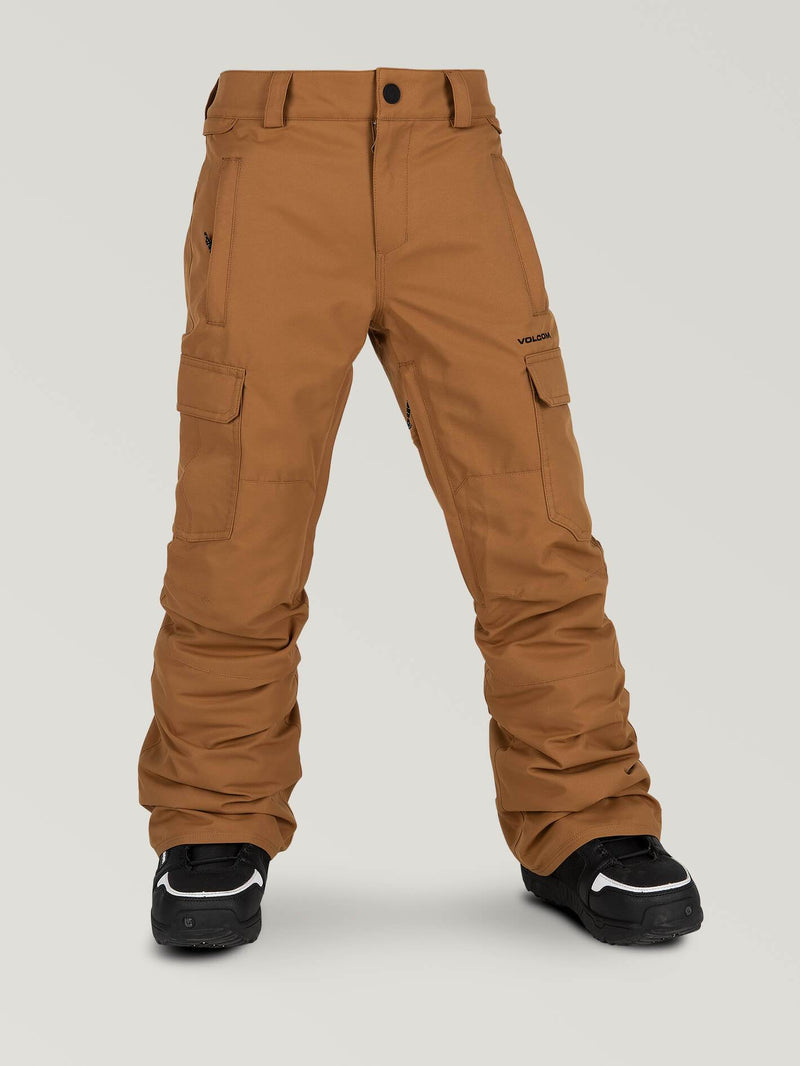 Volcom Cargo Insulated Youth Snow Pant - Carmel