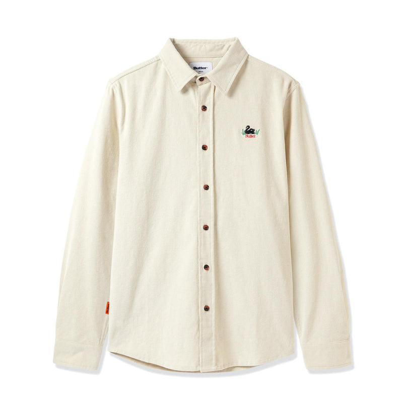 Butter Marshall Corduroy Button Up Shirt - Bone
