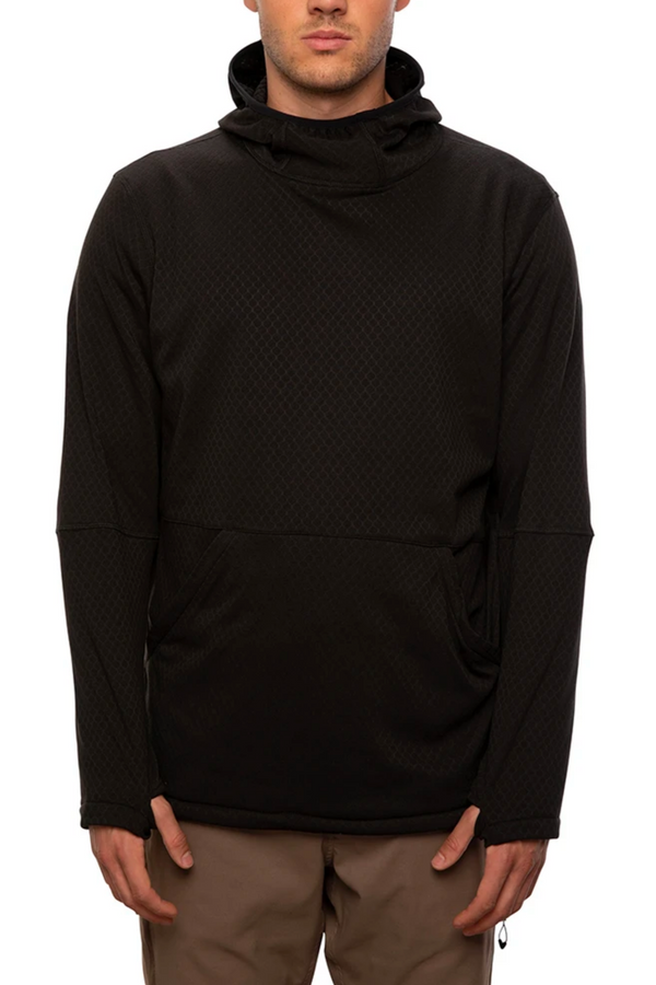 686 Mission Grid Fleece Hoodie - Black