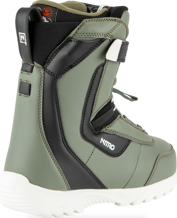 Nitro Droid QLS Youth Snowboard Boot - Charcoal
