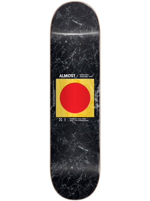 Almost Minimalist Skateboard Deck - 8.25""