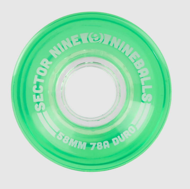Sector 9 Nineballs Long board Wheels - Green 58mm
