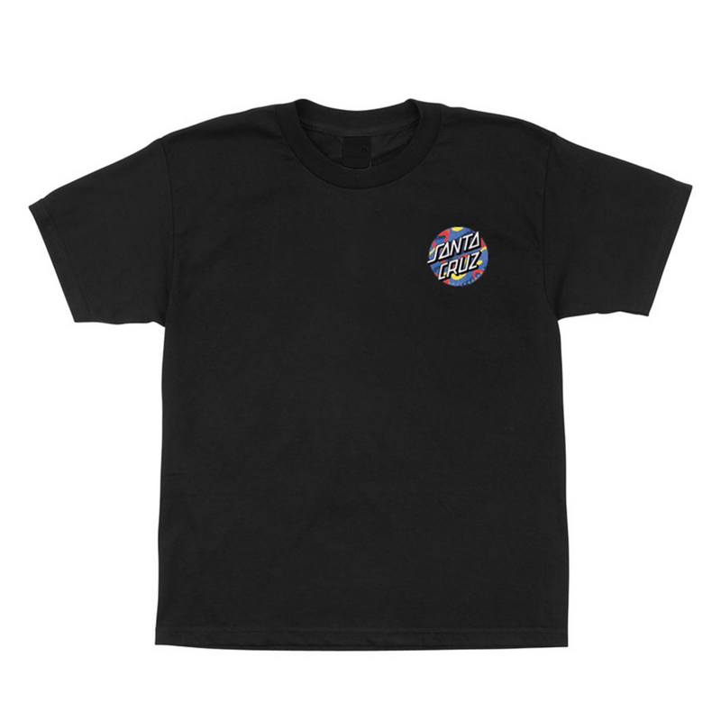 Santa Cruz Youth Primary Dot T-Shirt - Black