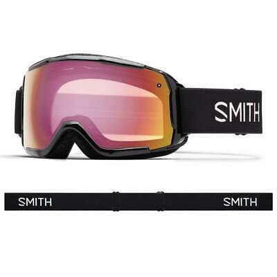Smith Grom Youth Goggle - Black Red Sensor Mirror