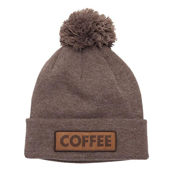 Coal Vice Pom Beanie - Brown