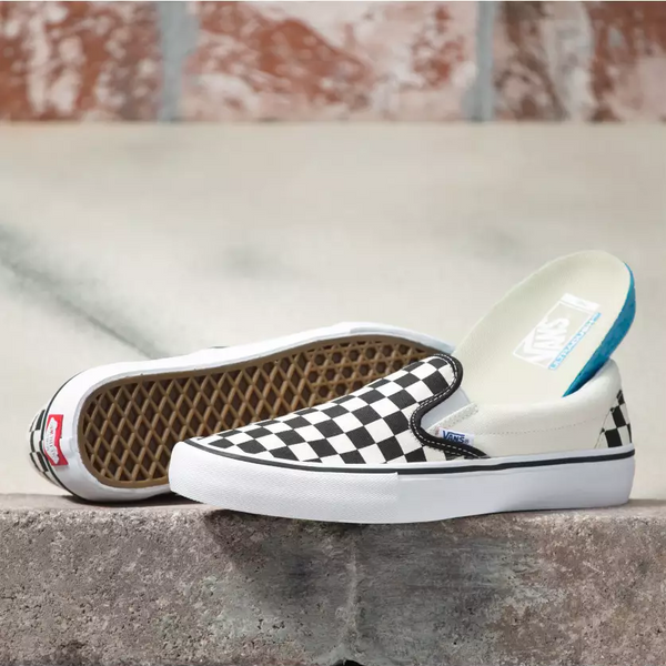 Vans Slip On Pro Shoes Checkerboard/White