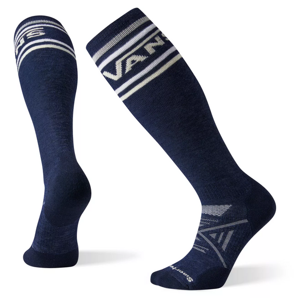 Vans by Smartwool PHD Medium Snow Classic Stripe Socks Deep Blue