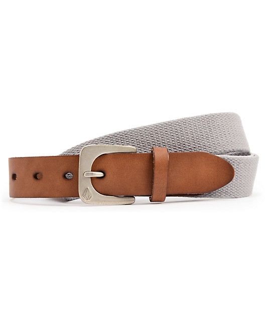 Volcom Flug Leather Belt - Grey