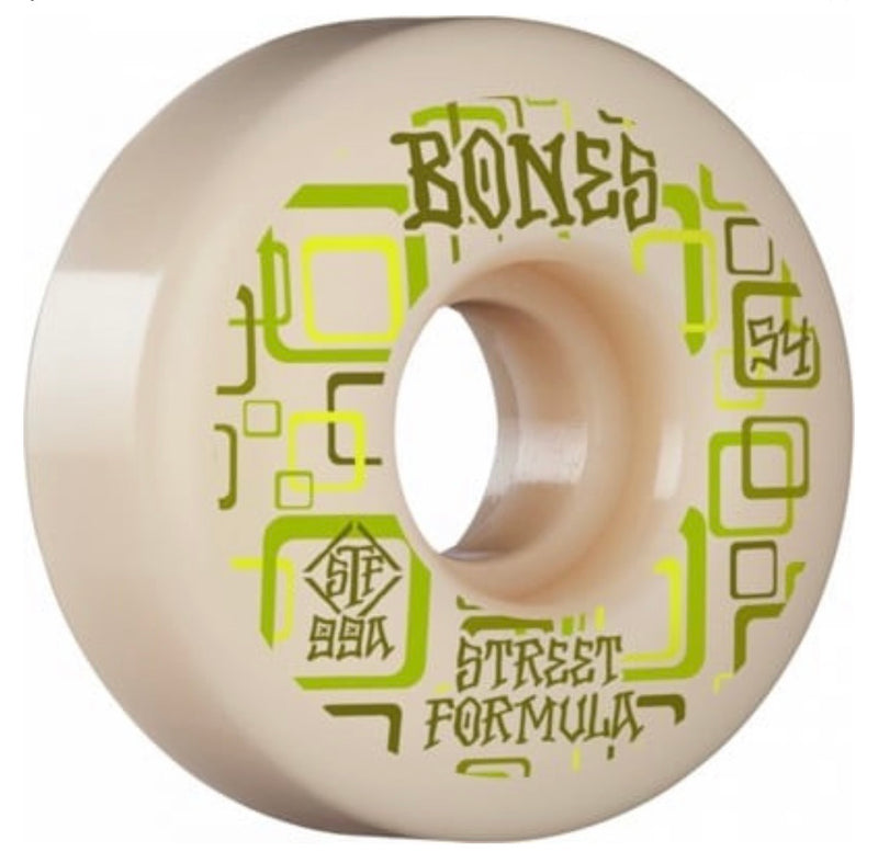 Bones STF Retro Skate Wheels - 99a 52mm Natural