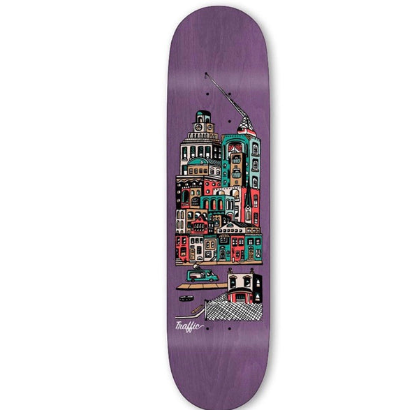 Traffic City Blocks Community Skateboard Deck - Assorted Sizes