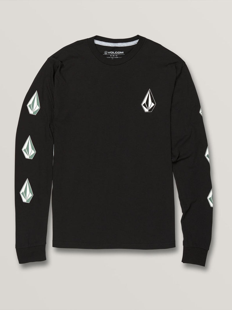 Volcom Youth Deadly Stones Long Sleeve T-Shirt - Black