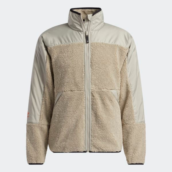 Adidas Fleece Zip Jacket - Feather Grey