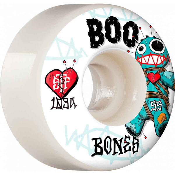 Bones STF Boo Johnson Voodoo V4 Wheels - 103a White Assorted