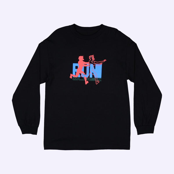 Quasi Chase Long Sleeve T-Shirt - Black