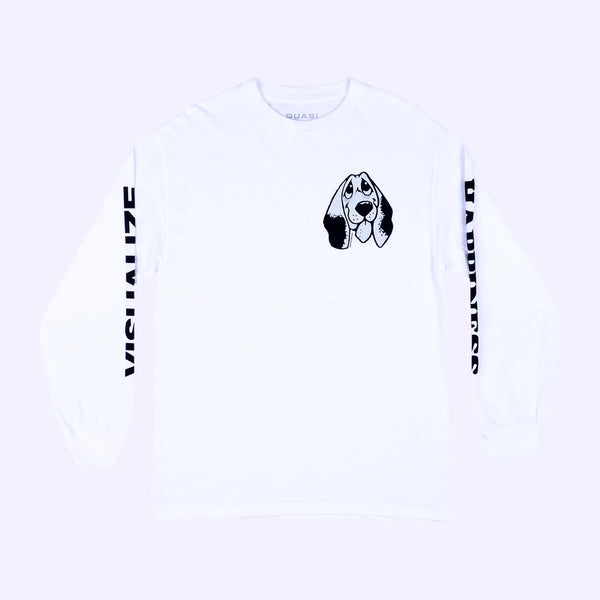 Quasi Happiness Long Sleeve-White
