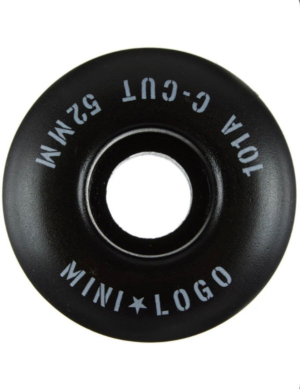 Mini Logo C-Cut Wheels - 101a 54mm Black
