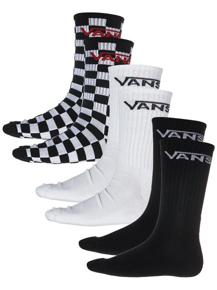 Vans Classic Crew 3 Pack Sock White/Check/Black