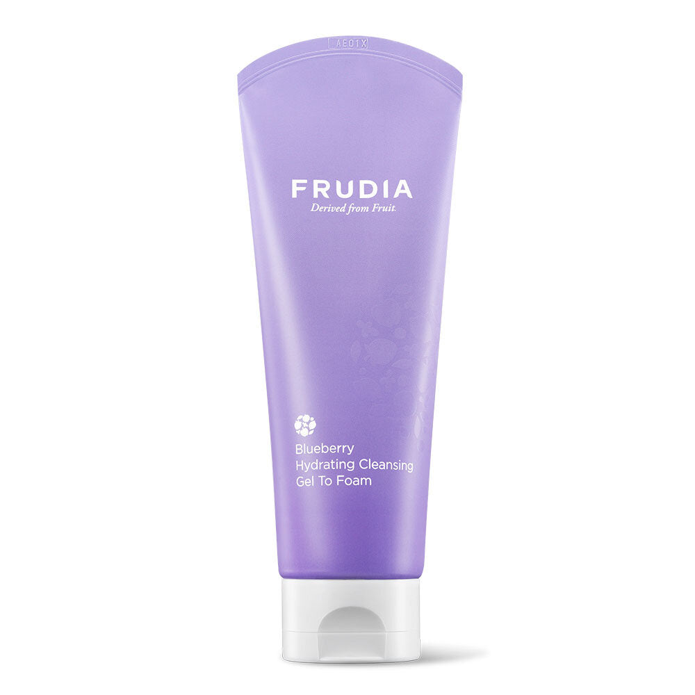 Spuma de curatare fata cu extract de afine, Frudia, Blueberry Hydrating Cleansing Gel to Foam